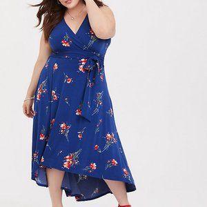 Torrid Surplice Neck Sleeveless Hi-Lo Dress